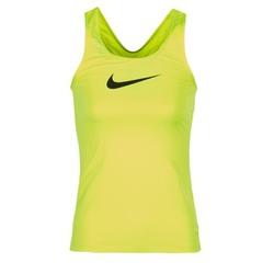 vaatteet Naiset Hihattomat paidat / Hihattomat t-paidat Nike NIKE PRO COOL TANK Yellow
