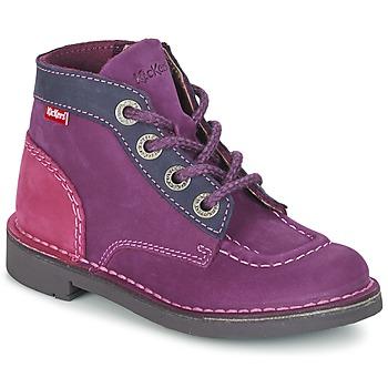 kengät Tytöt Bootsit Kickers KICK COLZ Violet / Laivastonsininen / Pink