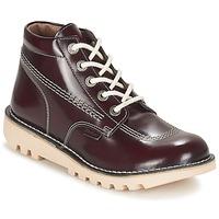 kengät Naiset Bootsit Kickers NEORALLYE BORDEAUX