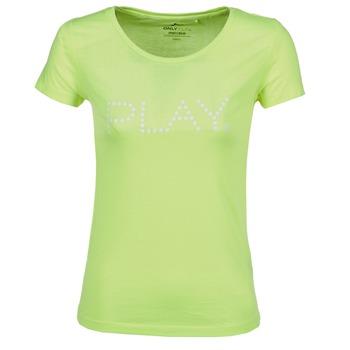vaatteet Naiset Lyhythihainen t-paita Only Play BASIC Yellow