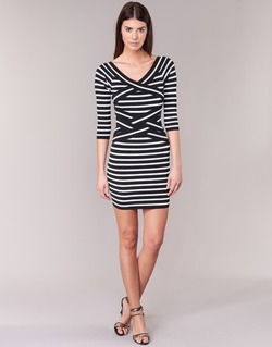 vaatteet Naiset Lyhyt mekko Morgan RBEST Black / ECRU