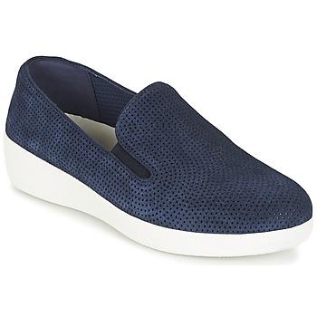 kengät Naiset Tennarit FitFlop SUPERSKATE (PERF) Laivastonsininen