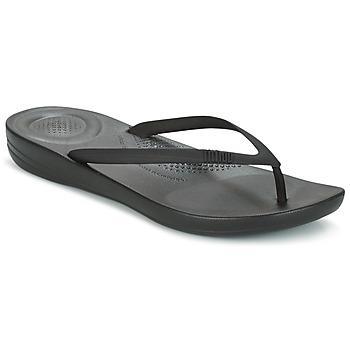 kengät Naiset Varvassandaalit FitFlop IQUSHION ERGONOMIC FLIP FLOP All / MUSTA