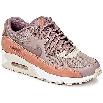 kengät Naiset Matalavartiset tennarit Nike AIR MAX 90 W TAUPE / Pink