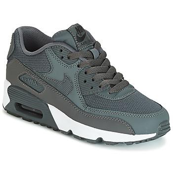 kengät Pojat Matalavartiset tennarit Nike AIR MAX 90 MESH GRADE SCHOOL Grey
