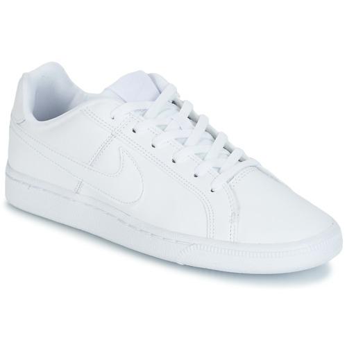 kengät Lapset Matalavartiset tennarit Nike COURT ROYALE GRADE SCHOOL White