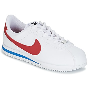 kengät Pojat Matalavartiset tennarit Nike CORTEZ BASIC SL GRADE SCHOOL White / Blue / Red