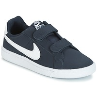 kengät Pojat Matalavartiset tennarit Nike COURT ROYALE PRESCHOOL Blue / White