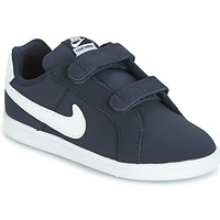 kengät Pojat Matalavartiset tennarit Nike COURT ROYALE TODDLER Blue / White