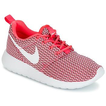 kengät Tytöt Matalavartiset tennarit Nike ROSHE ONE GRADE SCHOOL Pink / White