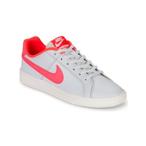 kengät Tytöt Matalavartiset tennarit Nike COURT ROYALE GRADE SCHOOL Grey / Pink