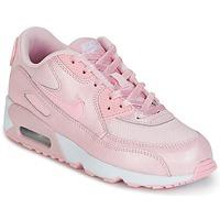kengät Tytöt Matalavartiset tennarit Nike AIR MAX 90 MESH SE PRESCHOOL Pink