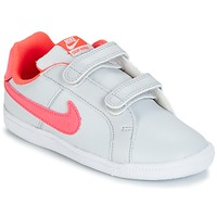 kengät Tytöt Matalavartiset tennarit Nike COURT ROYALE TODDLER Grey / Pink