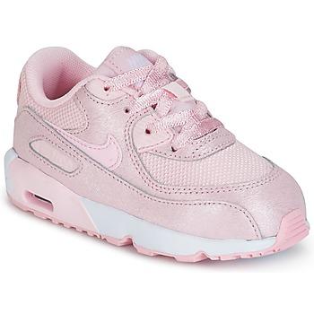 kengät Tytöt Matalavartiset tennarit Nike AIR MAX 90 MESH SE TODDLER Pink