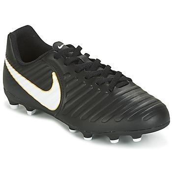 kengät Lapset Jalkapallokengät Nike TIEMPO RIO IV FG JUNIOR Black / White