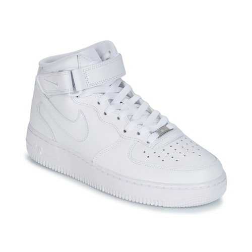 kengät Miehet Korkeavartiset tennarit Nike AIR FORCE 1 MID 07 LEATHER White