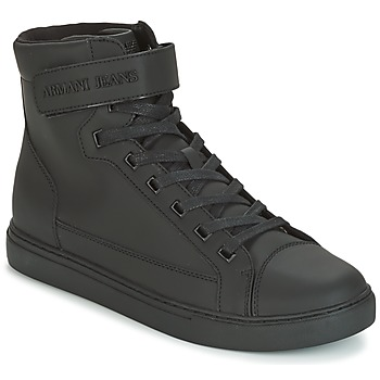 kengät Miehet Korkeavartiset tennarit Armani jeans JEFEM Black