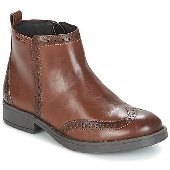kengät Tytöt Bootsit Geox J SOFIA F Brown