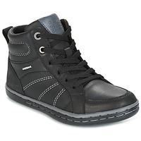 kengät Pojat Korkeavartiset tennarit Geox J GARCIA B. B Black / Grey
