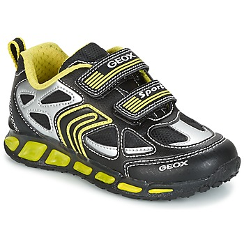 kengät Pojat Matalavartiset tennarit Geox J SHUTTLE B. A Black / Yellow