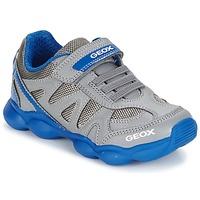 kengät Pojat Matalavartiset tennarit Geox J MUNFREY B. A Grey / Blue