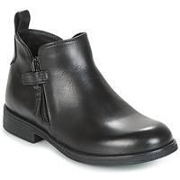 kengät Tytöt Bootsit Geox J AGATA C Musta