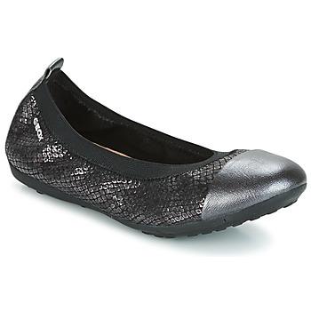 kengät Tytöt Balleriinat Geox J PIUMA BAL B Black