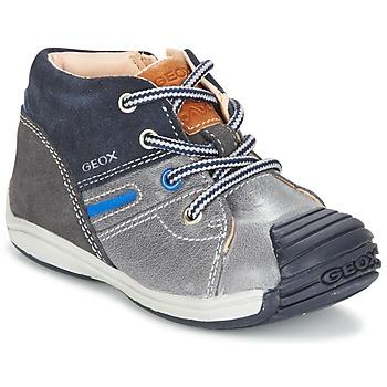 kengät Pojat Korkeavartiset tennarit Geox B TOLEDO B. A Grey / Laivastonsininen