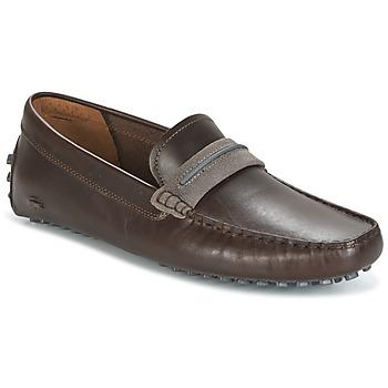 kengät Miehet Mokkasiinit Lacoste HERRON Brown