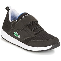 kengät Lapset Matalavartiset tennarit Lacoste L.IGHT Black / Grey