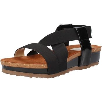 kengät Naiset Sandaalit ja avokkaat Olga Rubini sandali nero tessuto vernice AF792 Nero