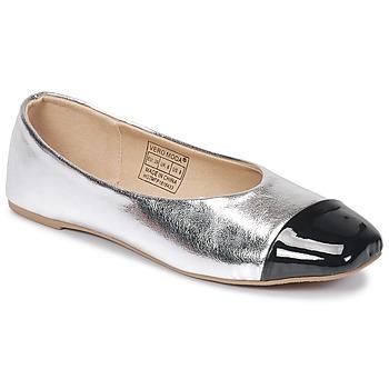 kengät Naiset Balleriinat Vero Moda STAR BALLERINA Argenté / Black