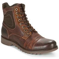 kengät Miehet Bootsit Jack & Jones DEAN LEATHER Brown