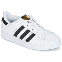 kengät Lapset Matalavartiset tennarit adidas Originals SUPERSTAR White / Black