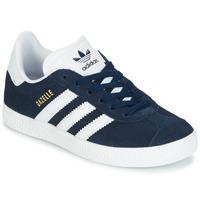 kengät Lapset Matalavartiset tennarit adidas Originals Gazelle C Laivastonsininen