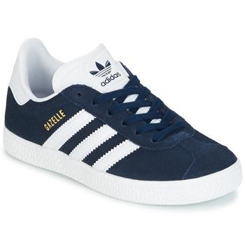 kengät Pojat Matalavartiset tennarit adidas Originals Gazelle C Laivastonsininen