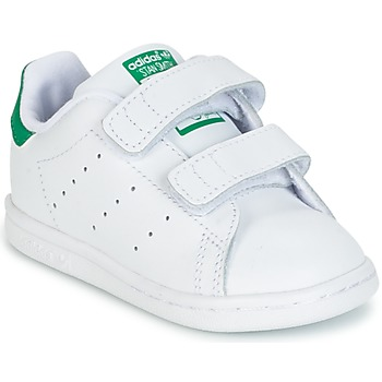 kengät Lapset Matalavartiset tennarit adidas Originals STAN SMITH CF I White / Green