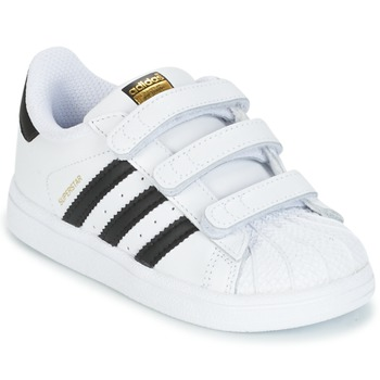 kengät Lapset Matalavartiset tennarit adidas Originals SUPERSTAR CF I White / Black