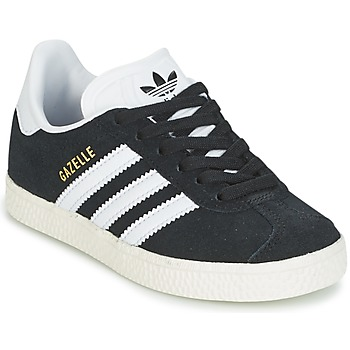 kengät Pojat Matalavartiset tennarit adidas Originals GAZELLE C Black