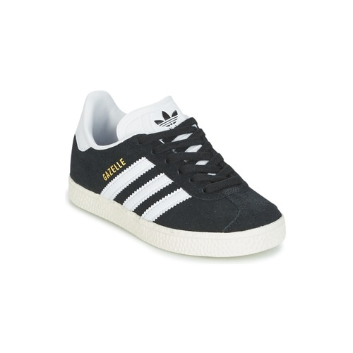 kengät Lapset Matalavartiset tennarit adidas Originals GAZELLE C Black