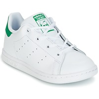 kengät Lapset Matalavartiset tennarit adidas Originals STAN SMITH I White / Green