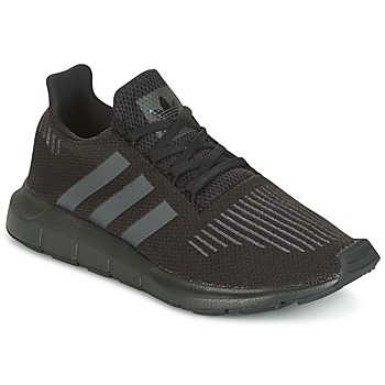 kengät Lapset Matalavartiset tennarit adidas Originals SWIFT RUN J Black