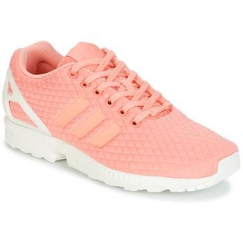 kengät Naiset Matalavartiset tennarit adidas Originals ZX FLUX W Pink / White