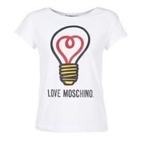 vaatteet Naiset Lyhythihainen t-paita Love Moschino W4F3038E1512 White