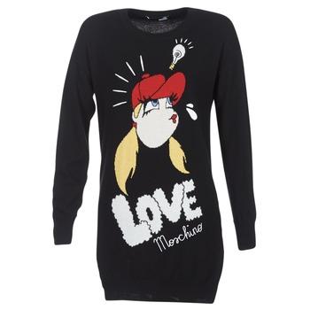 vaatteet Naiset Lyhyt mekko Love Moschino WS45S01X0608 Black