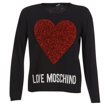 vaatteet Naiset Neulepusero Love Moschino WS89G01X0683 Black