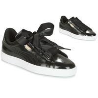 kengät Tytöt Matalavartiset tennarit Puma Basket Heart Glam Jr Black