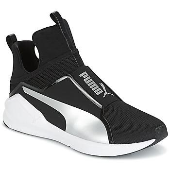 kengät Naiset Korkeavartiset tennarit Puma FIERCE core Black