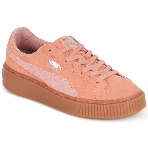 check out 2fb15 19945 kengät Naiset Matalavartiset tennarit Puma Suede Platform Core Gum Pink