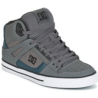 kengät Miehet Korkeavartiset tennarit DC Shoes SPARTAN HIGH WC Grey / Green